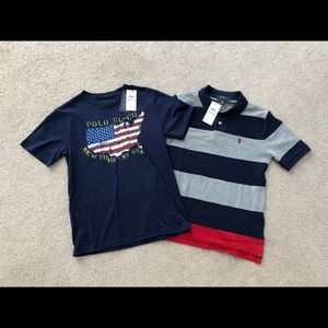 Boys medium Ralph Lauren polo shirts NWT